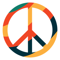 Colorful peace symbol flat