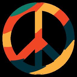 Símbolo de paz colorido plano
