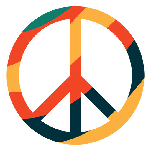 Símbolo de paz colorido liso Transparent PNG
