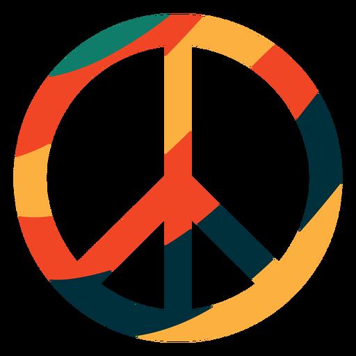 Símbolo de paz colorido plano Transparent PNG