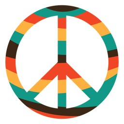 Colorful Peace Symbol Flat Transparent Png Svg Vector File