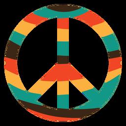 Icono de símbolo de paz colorido