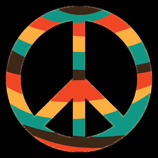 Colorful peace symbol icon