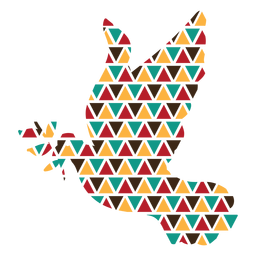 Colorful triangle shapes dove