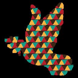 Paloma de formas triangulares coloridas