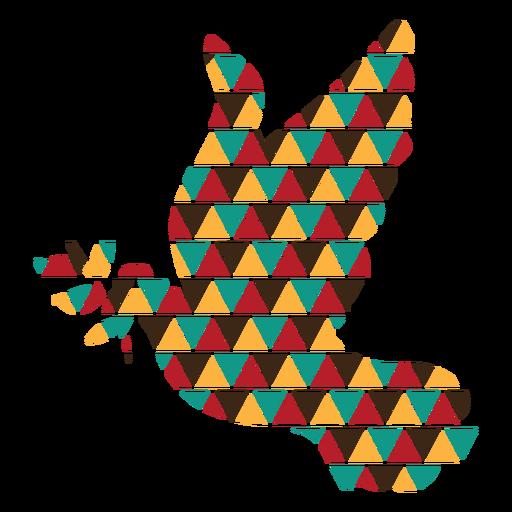 Colorful triangle shapes dove