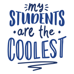 Coolest students doodle lettering design