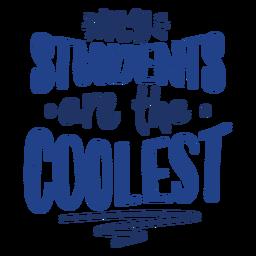 Los estudiantes más geniales doodle diseño de letras