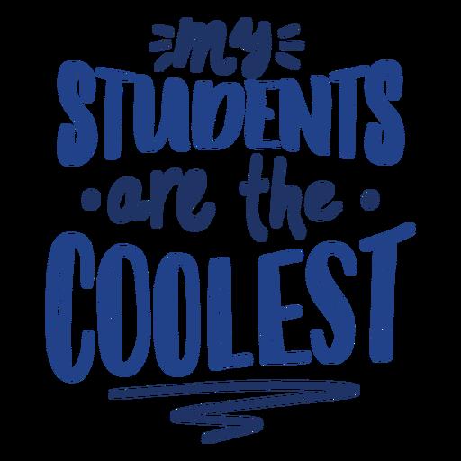 Los estudiantes más geniales doodle diseño de letras Transparent PNG