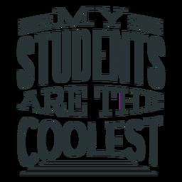 Diseño de letras para estudiantes más cool