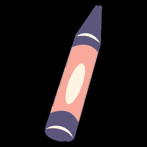 Icono plano de crayón