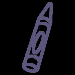 Icono de trazo de crayón