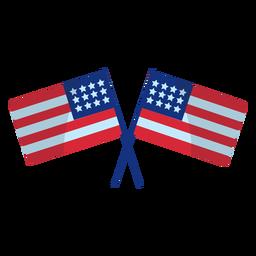 Cruzou o elemento de bandeiras dos EUA