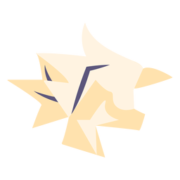 Crumpled paper flat icon