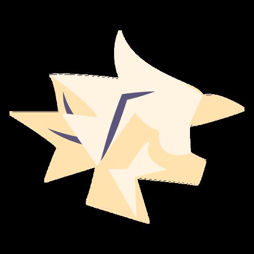 Icono plano de papel arrugado