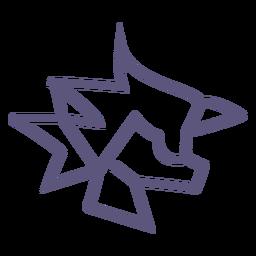 Icono de trazo de papel arrugado
