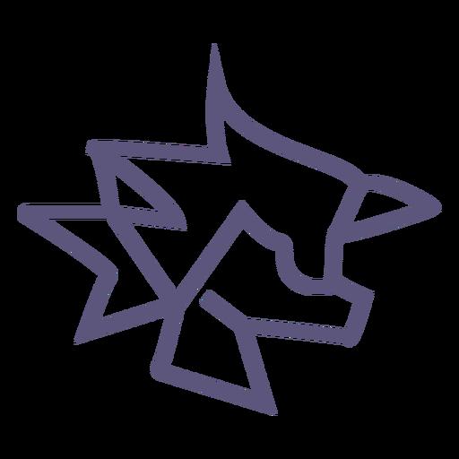 Crumpled paper stroke icon