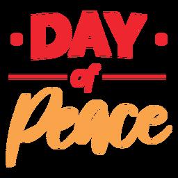Dia da paz letras