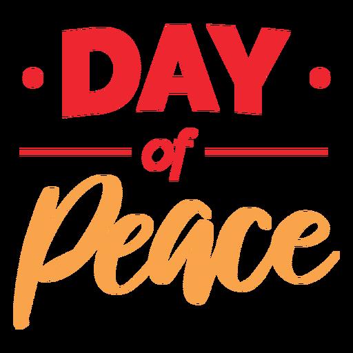 Letras del día de la paz
