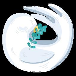 Dove round peace symbol
