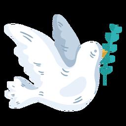 Símbolo de paz mundial de la paloma