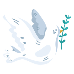 Símbolo de paz mundial pomba