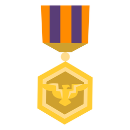 Golden Double Triangle Medal Icon Transparent Png Svg Vector File
