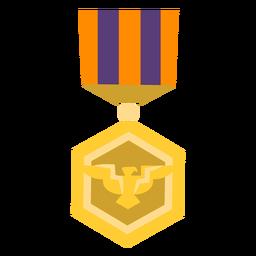 Icono de medalla hexagonal de águila