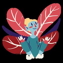 Fairy crouching