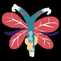 Fairy doing cartwheel