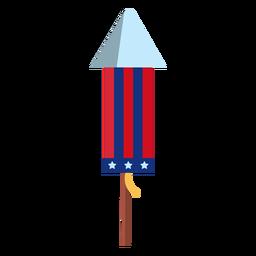 Elemento patriótico de cohete de fuegos artificiales