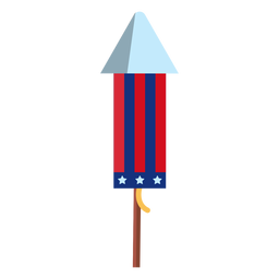 Firework rocket patriotic element