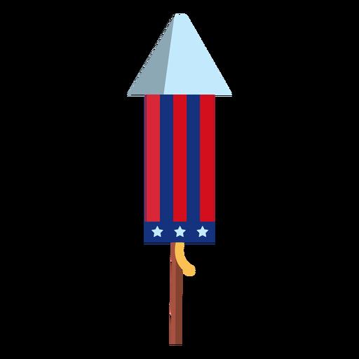 Elemento patriótico cohete de fuegos artificiales
