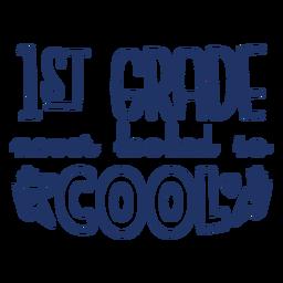 Diseño de letras geniales de primer grado