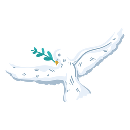 Flying dove peace symbol