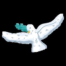 Símbolo de paz paloma voladora