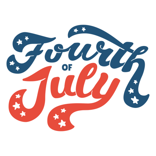 Fourth of july lettering Transparent PNG