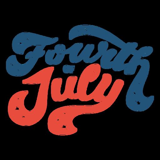Vierter Juli Schriftzug
