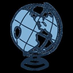 Globe color doodle