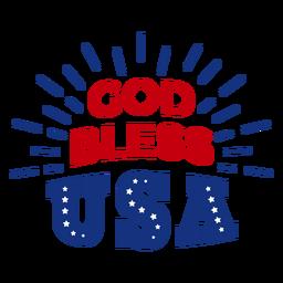 Dios bendiga las letras de EE. UU.