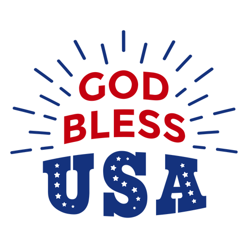 God bless usa lettering Transparent PNG