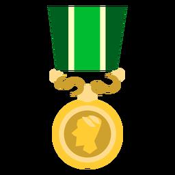 Icono de medalla de círculo dorado