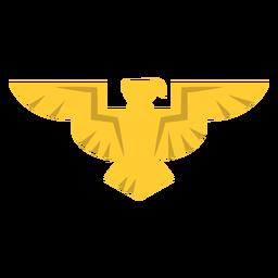 Golden eagle badge icon