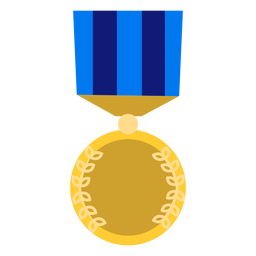Golden education medal icon
