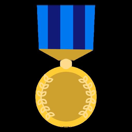 Golden education medal icon Transparent PNG
