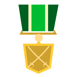 Golden military medal icon
