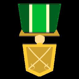 Icono de medalla militar de oro