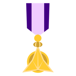 Golden ornament medal icon