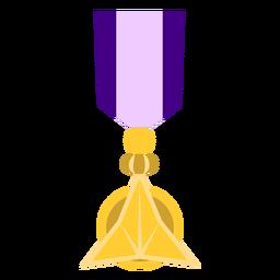 Ícone de medalha de ornamento dourado
