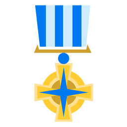 Golden religious medal icon